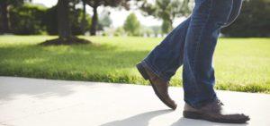 Shoes Walking on Concrete