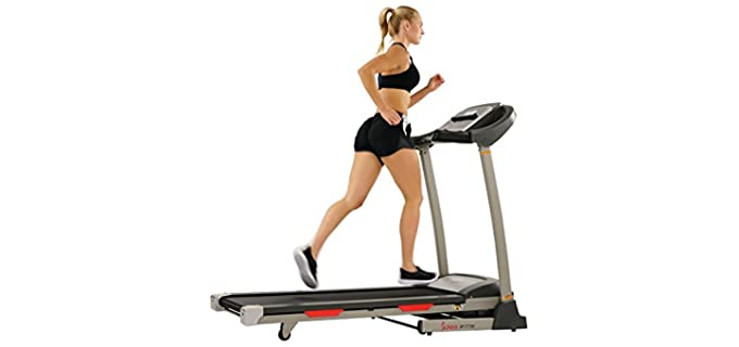 Sunny Health Unisex Fitness Portable - Budget Treadmill Under $500 for Home