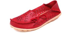 Fangsto Women's Leather - Driving Loafers