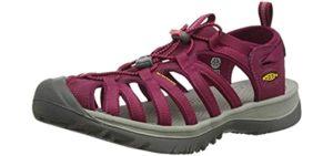 Keen Women's Whisper - Sports Sandals for Achilles Tendonitis