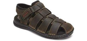 Rockport Men's Darwyn - Wide Toe Box Narrow Heel Walking Sandals