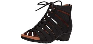 Rockport Cobb Hill Women's Gabby - Wide Toe Box Narrow Heel Walking Sandals