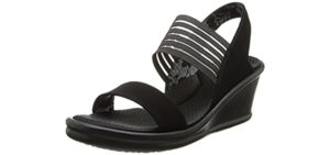Skechers Women's Rumblers-Rock Solid - Sandal for Achilles Tendonitis
