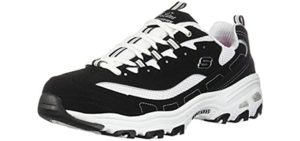Skechers Women's D'Lites - Cushioned Walking Shoe for Bad Knees