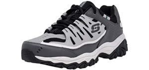 Skechers Men's Afterburn - Cushioned Walking Shoe for Bad Knees
