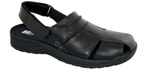 Drew Men's Barcelona - Charcot's Foot Dress Sandals