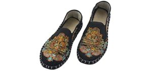LS_JWZ Men's Old Beijing - Embroidered Tai Chi Shoes