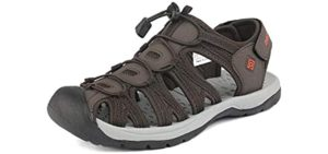 Dream Pairs Men's Adventurous - High Arch Support Sandals for Walking