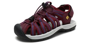 Dream Pairs Women's Adventurous - Sandals for Bunions and Flat Feet