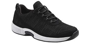 Orthofeet Men's Lava - Orthopedic Walking Shoes for Bad Knees