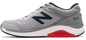New Balance Men's MW847v4 - Lightweight Overpronation Walking Shoe