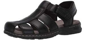 Dr. Scholls Men's Gaston - Wedge Sandal for Tarsal Tunnel Syndrome