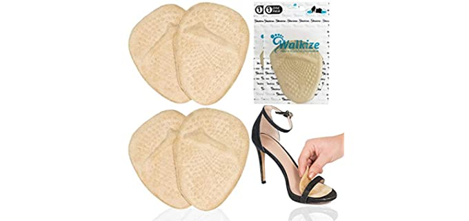 Walkize Unisex Metatarsal Pads - Gel Pad Ball of Foot Cushions