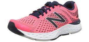 New Balance Women's 680V6 - Tarsal Tunnel Syndrome Walking Shoes