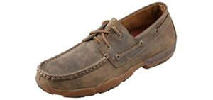Twisted X Men's Round Toe - Moccasin Shoes for Driving