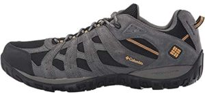 Columbia Men's Redmond - Cushioned Hiking Shoes for Flat Feet