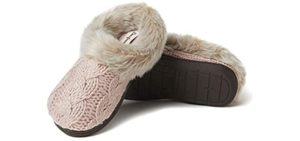 DearFoam Women's Knit Claire - Memory Foam Slippers