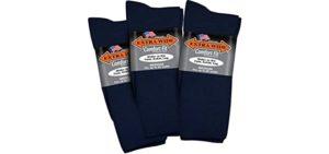 Extra Wide Women's Comfort - Larger Fit Diabetic Socks
