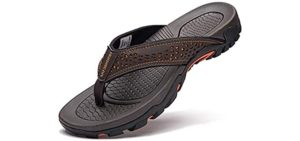 Gubarun Men's Sport - Flip Flop Sandals with Orthopedic Footbed