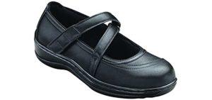 Orthofeet Women's Celina - Extensor Tendinitis Dress Shoe