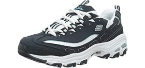 Skechers Women's D'Lites - Charcot's Foot Walking and Casual Shoe