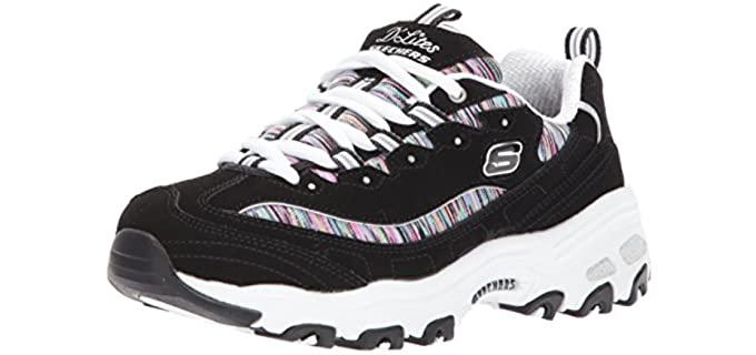 Skechers Women's D'Lites - Heavy Weight Walking and Casual Shoe