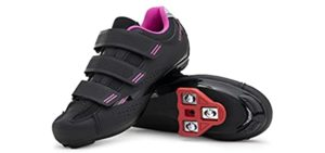 Tomaso Women's Pista - Cardio Spinning and Cycling Shoe