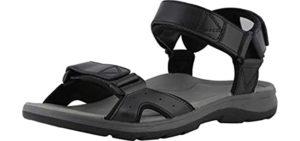 Vionic Men's Canoe - Orthaheel Technology Orthopedic Sandals